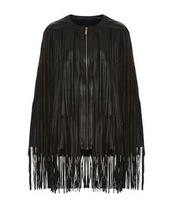 Elie Saab | Leather Fringe Cape