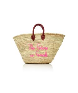 Poolside | Shorty Embroidered Straw Tote