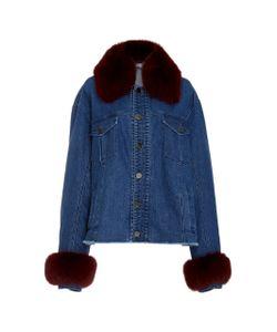 Tanya Taylor | Jaxson Fox Fur Collar Denim Jacket