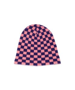 The Elder Statesman | Checkered Cashmere Beanie