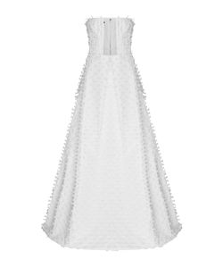 Alex Perry | The Aria Raffia Strapless Pleated Gown
