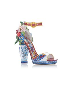 Dolce & Gabbana | Embellished Patent-Leather Sandals