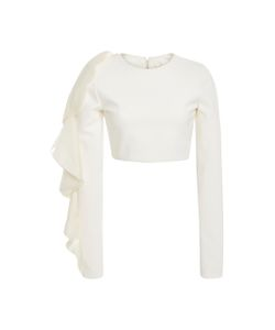 Christian Siriano | Flounce Cropped Blouse