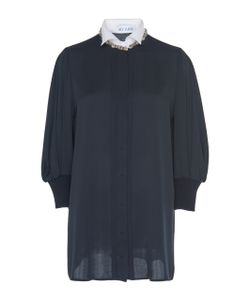 Dice Kayek | Embellished Short Sleeve Shirt