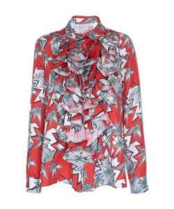 Dice Kayek | Printed Ruffled Long Sleeve Shirt