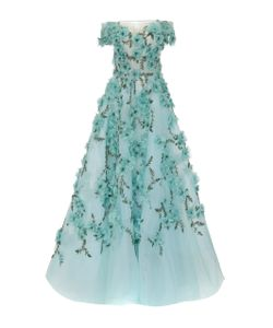 Marchesa | Off The Shoulder Tulle Ball Gown