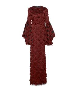 Christian Siriano | Fringe Bell Sleeve Gown
