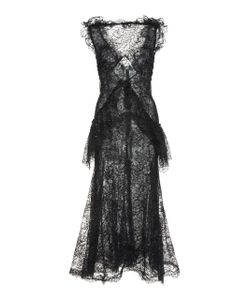 Rodarte | Embroidered Flocked Chantilly Lace Dress