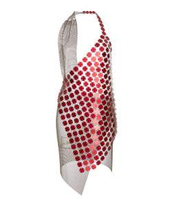 Fannie Schiavoni   Mesh Scale Bi-Color Dress