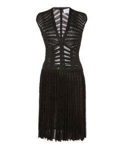 Zuhair Murad | Cap Sleeve Pleated Mini Dress