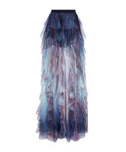 Elie Saab | Tulle Ruffled Maxi Skirt