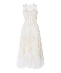 Zuhair Murad   Embroidered Tea Length Dress