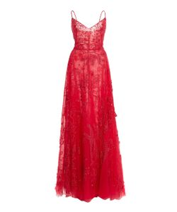 Zuhair Murad   Bead Embroidered Tulle Gown