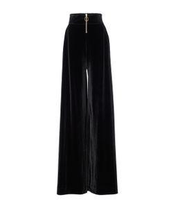 Christian Siriano | Velvet Wide Leg Trousers