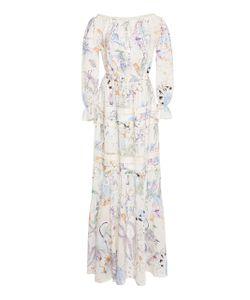 Zuhair Murad | Printed Peasant Sleeve Maxi Dress