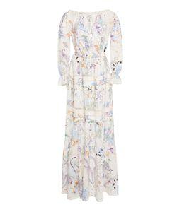 Zuhair Murad   Printed Peasant Sleeve Maxi Dress