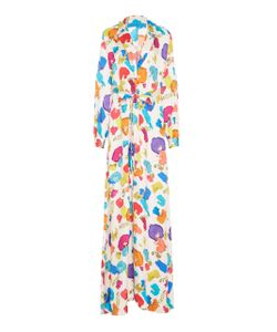 Jonathan Cohen | Abstract Orchids Robe Dress