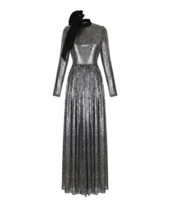 Rasario   Sequin Embroidered Long Sleeve Gown
