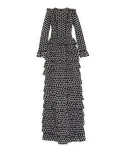 Huishan Zhang | Morand Ruffle Full Length Gown