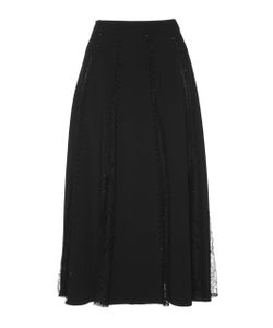 Zuhair Murad   A-Line Skirt With Lace Inserts