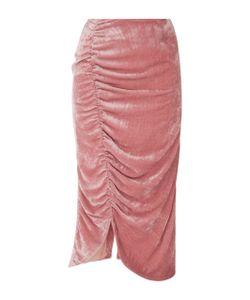 Vivetta | Coral Bay Velvet Gathered Skirt
