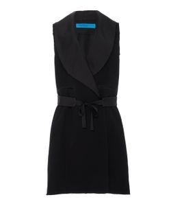 Jonathan Cohen | Sleeveless Tuxedo Wrap Dress
