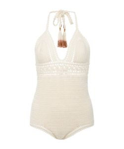 She Made Me | Intricate Flower Crocheted Swimsuit