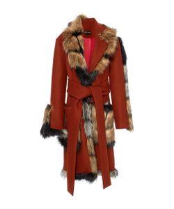 Christian Siriano | Faux Fur Wrap Coat