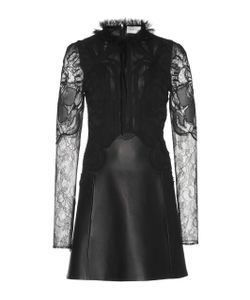 Zuhair Murad   Leather And Lace Mini Dress