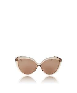 Linda Farrow   Lucite Cat Eye Sunglasses