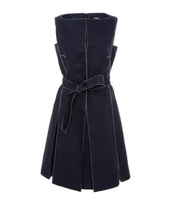 Paule Ka | Sleeveless Dress With Top Stitch Detail And