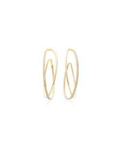 Joanna Laura Constantine | Plated Criss Cross Hoop Earrings
