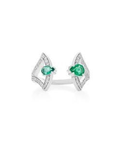 Hueb | Spectrum 18k Diamond And Emerald Ring