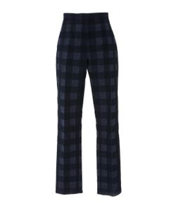 Rosetta Getty | Cropped Skinny Check Trousers