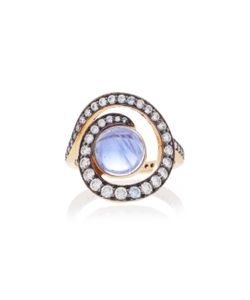 Noor Fares | Planet Spiral Ring In With Iolite