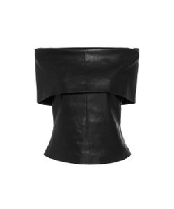Rosetta Getty | Off-The-Shoulder Leather Top