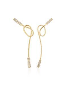 Joanna Laura Constantine | Asymmetric Knot Plated Earrings