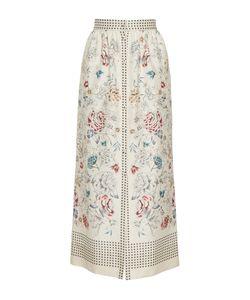 Vilshenko   The Willow Print Button Down Midi Length Skirt