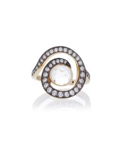 Noor Fares   Planet Spiral Pinky Ring In With Faceted