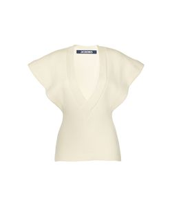 Jacquemus | Cap Sleeve Ribbed Blouse