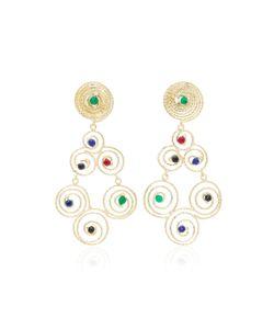 Rosantica | Tone Brass Earrings