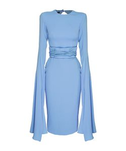 Alex Perry | The Chloe Satin Crepe Long Sleeve Dress