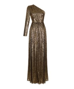 Rasario   Sequin Embroidered One Shoulder Gown