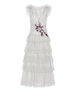 Rodarte | Flocked Tulle Ruffle Dress
