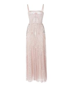 Zuhair Murad | Bead Embroidered Tea Length Dress