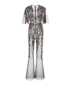 Zuhair Murad   Short Sleeve Embellished Jumpsuit