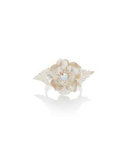 Rodarte | Flower Bracelet With Swarovski Crystal Detail