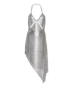 Fannie Schiavoni   Cutout Metal Mesh Dress