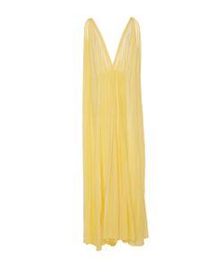 KALITA   Clemence Sunshine Plunge Maxi Dress