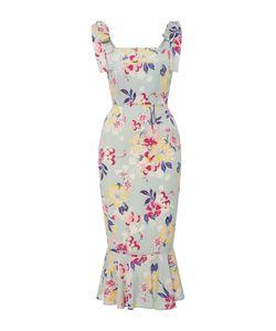 Piamita | Lisa Ruffle Midi Dress